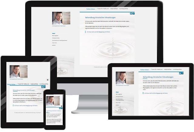 Heilpraktiker Praxis Homepage