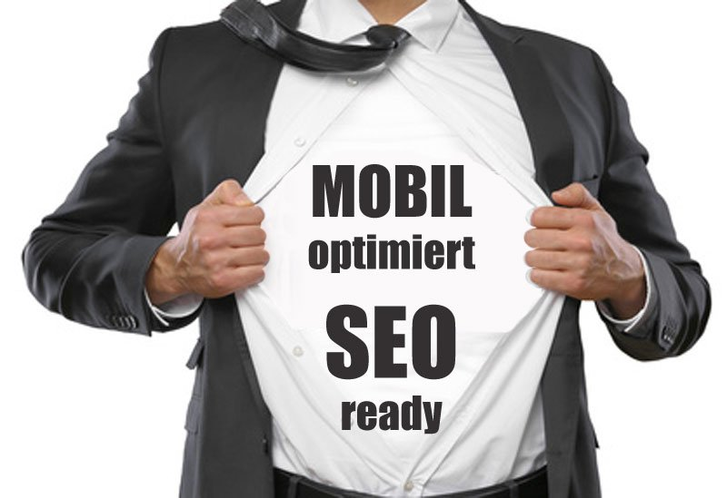 Business-Homepage SEO und mobil optimiert
