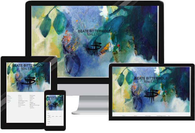 Website für Kunstmaler / Kunstmalerin