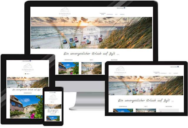 Hotel Reisen Webseite für Ferienhaus Apartment