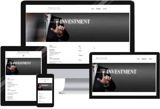 Webdesign für Finanzen Banken