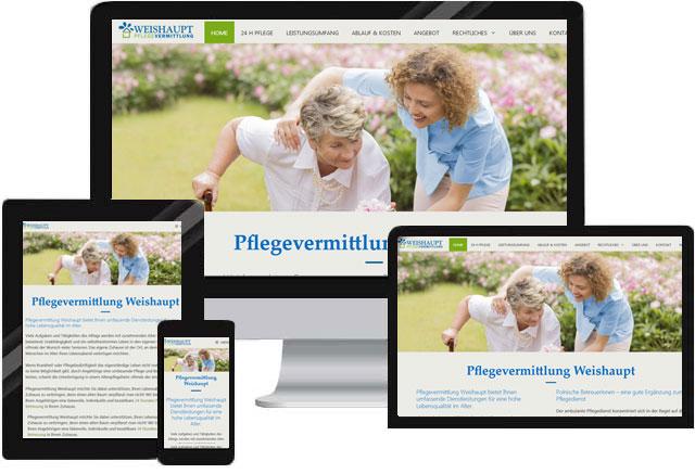 Website für Seniorenbetreuung Vermittlung