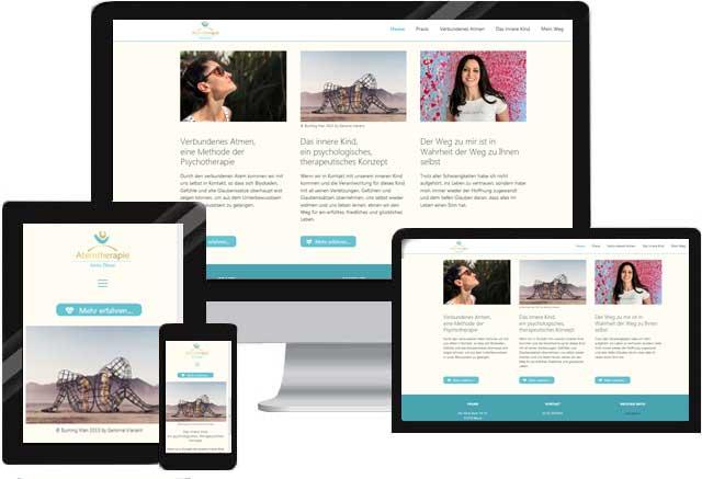 Webdesign für Heilpraktiker Atemtherapeut