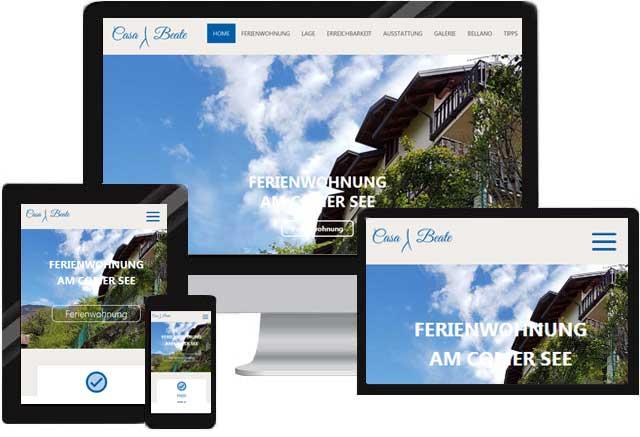 Website für Ferienwohnung