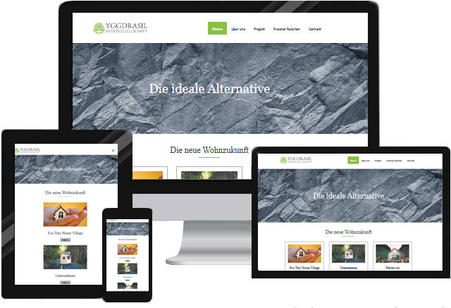 Webdesign für Aktiengesellschaft