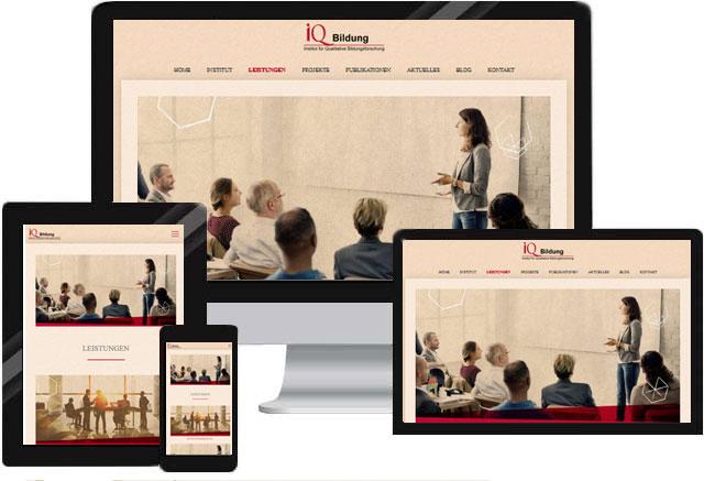 Webdesign Portfolio Website für Bildungsberatung