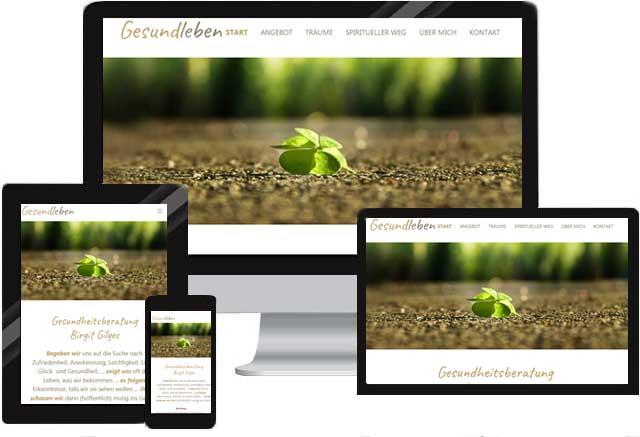 Website für Gesundheitsberatung, Ernährungsberatung