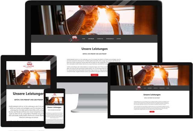 Webdesign für Wohnmobilverleih