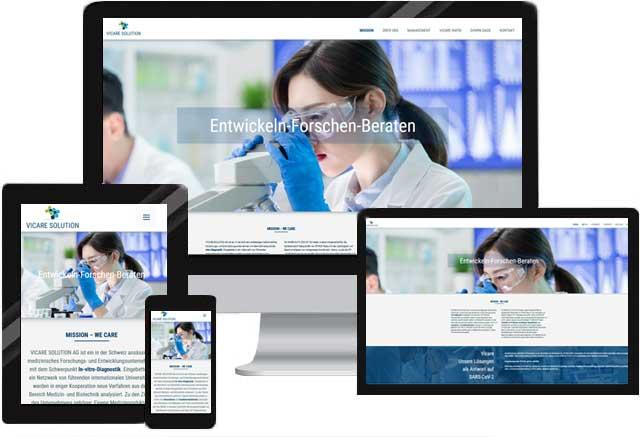 Webdesign für Aktiengesellschaft l Medizinprodukte