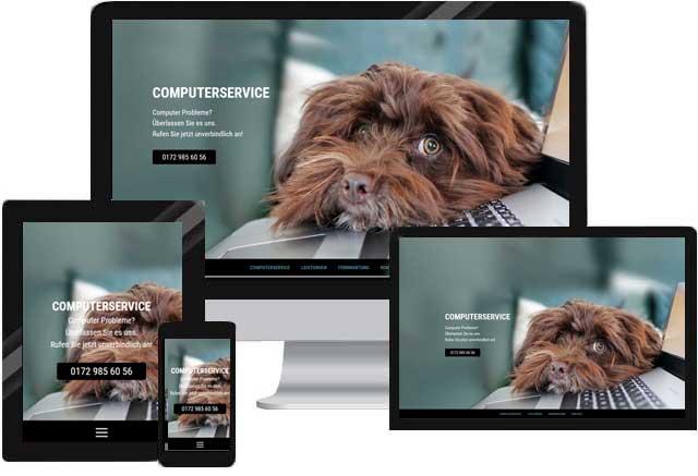 Webdesign für IT Service