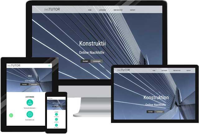 Webdesign für Nachhilfe Lehrer