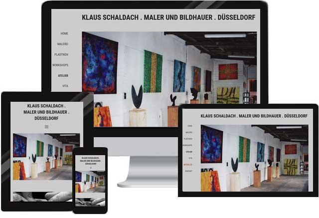 Webdesign für Kunstmaler/ Bildhauer